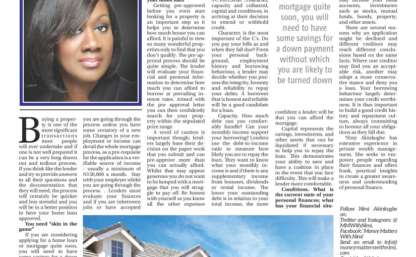 Do I Qualify for a Mortgage? [Business Day, Monday, July 20, 2015]