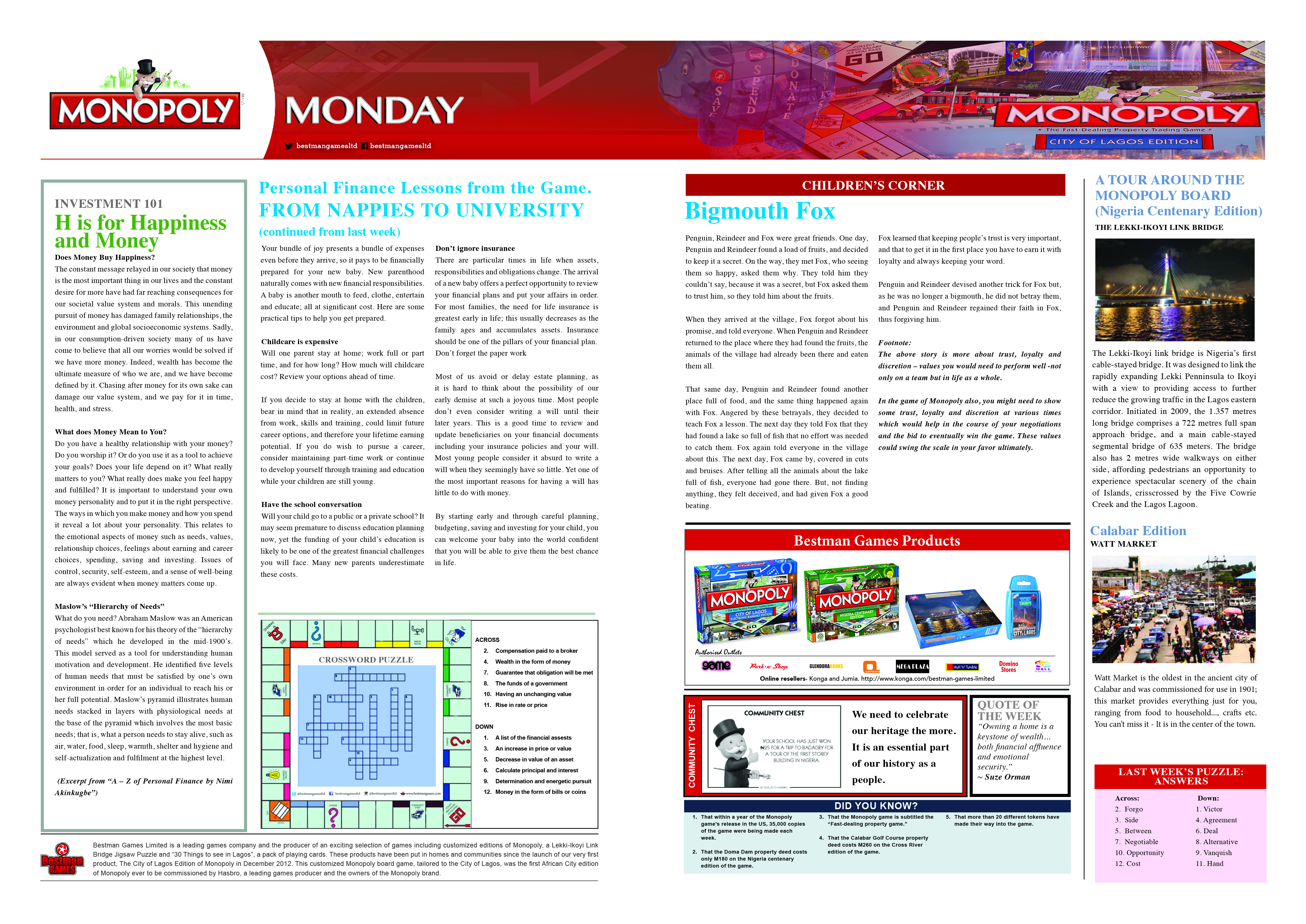 Monopoly Monday - Week 20 - 30th May