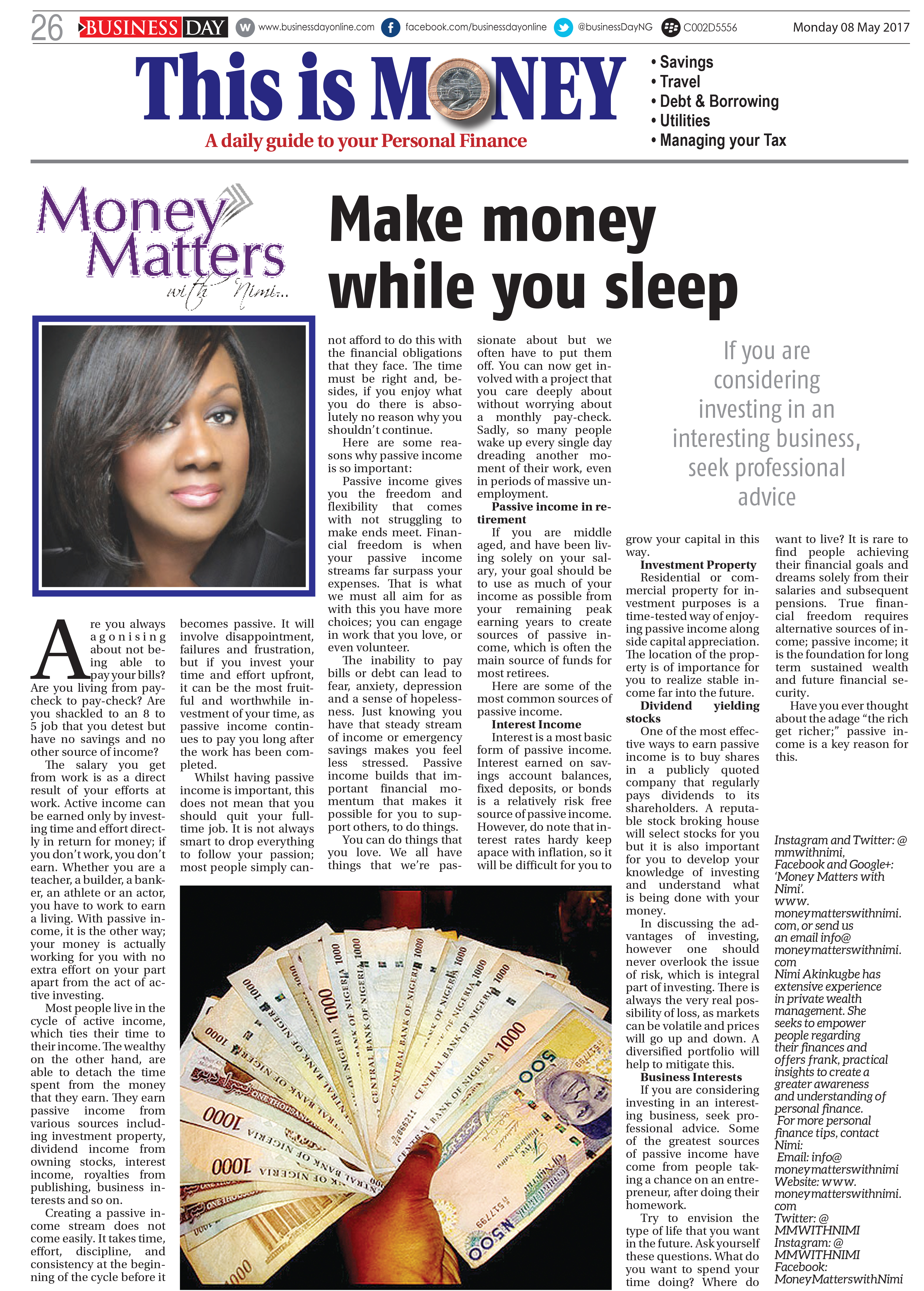 money 08 MAY 2017